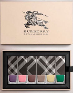NEW! BURBERRY Collection Nail Polish Set of 6 Full Size Bottles BNIB AUTHENTIC
