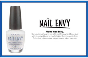 NEW ~ OPI Matte Nail Envy Matte Finish FULL Sz 0.5oz AUTHENTIC