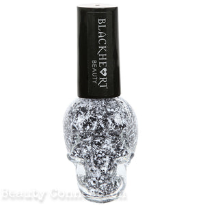 Blackheart Beauty White Black Splatter Nail Polish Color .4oz