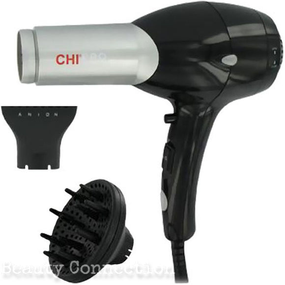 CHI Pro Black Ceramic Professional Low EMF Hair Dryer with Diffuser GF1505
