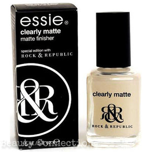 Essie Clearly Matte Top Coat Nail Polish Matte Finisher Special Edition with Rock & Republic .5oz