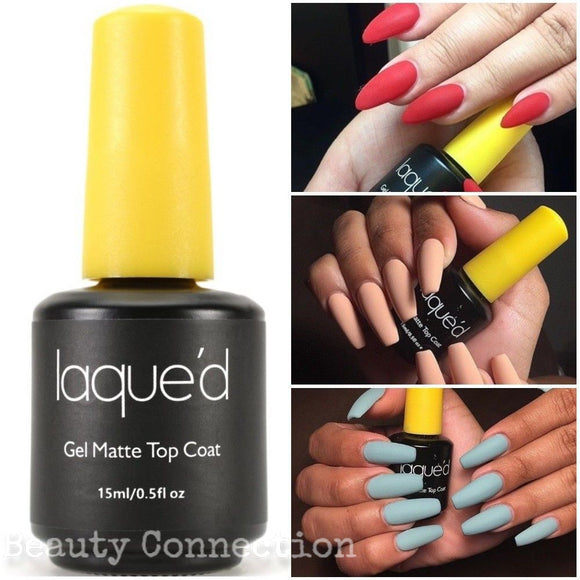 Laque'd Gel Matte Top Coat UV/LED Soak-Off Nail Polish .5oz