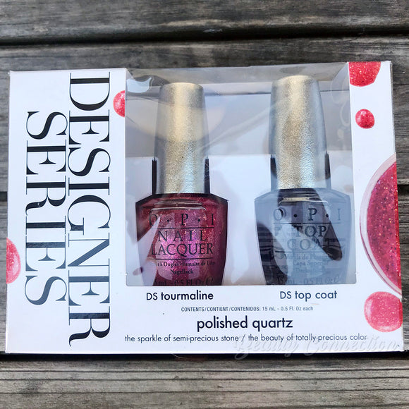 OPI Designer Series Nail Lacquer Duo Polished Quartz DS Tourmaline & DS Top Coat