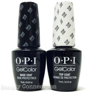 OPI GelColor Base Coat .5oz + Top Coat Set .5oz
