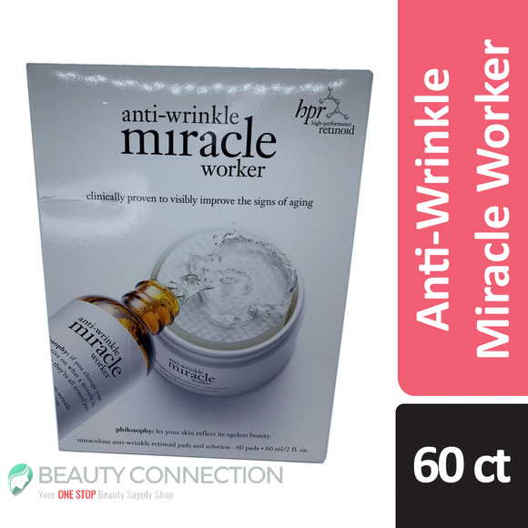 Philosophy Anti-Wrinkle Miracle Worker 60 Retinoid Pads with Solution