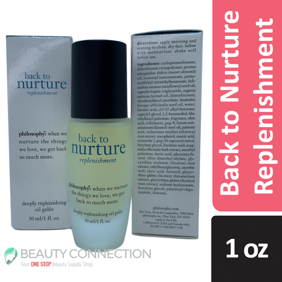 Philosophy Back to Nurture Replenishment Deeply Replenishing Oil Gelee 1 oz