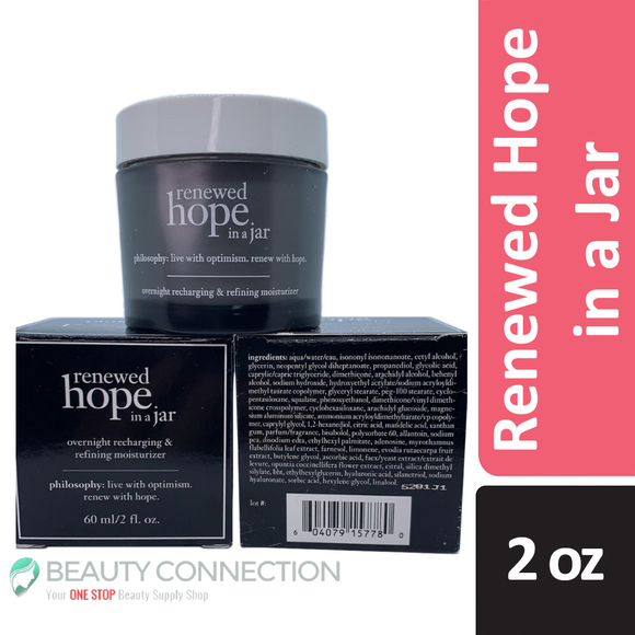 Philosophy Renewed Hope in a Jar Overnight Recharging & Refining Moisturizer 2 oz