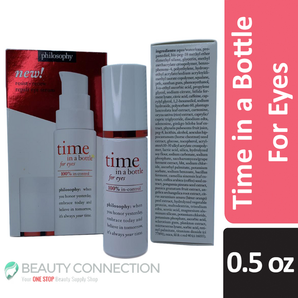 Philosophy Time in a Bottle For Eyes - Repair Eye Serum 100% In-Control 0.5 oz