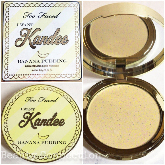 Too Faced I Want Kandee Banana Pudding Scented Brightening Face Pressed Powder
