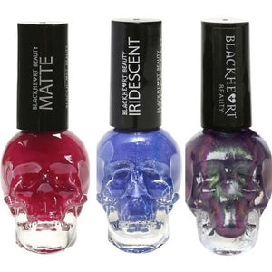 Blackheart Beauty Nail Polish Skull Bottle 0.40 oz CHOOSE Color