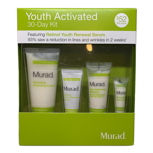 Murad Resurgence Youth Activation 30-Day 4PC Kit Feat. Retinol Youth Renewal Serum