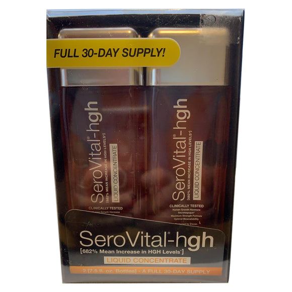 SeroVital-hgh Liquid Concentrate Citrus Flavor Dietary Supplement - 2 Bottles