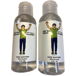 "NEW 2 Pack Hand Sanitizers 70% Alcohol 2 oz each ""Did You Seriously Just Touch Your Junk?"""