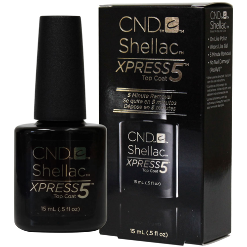 CND Shellac Xpress5 Nail Top Coat (5-Minute Removal) - 0.5oz