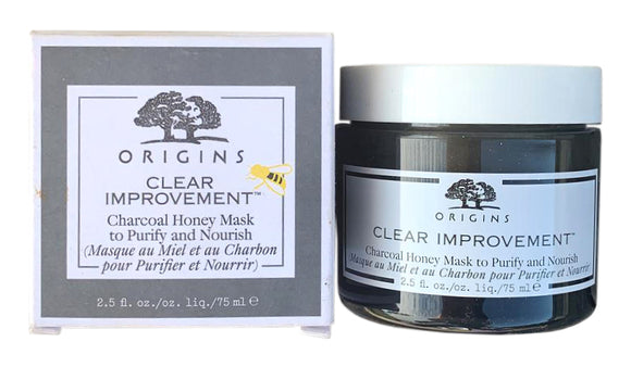 Origins Clear Improvement Charcoal Honey Mask to Purify and Nourish 2.5 oz