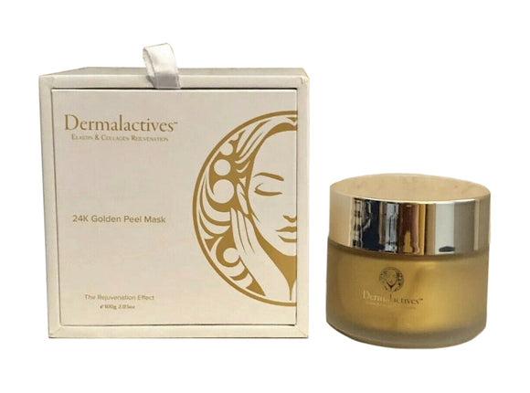 Dermalactives 24K Golden Peel Mask Re-Energizes and Stimulates Skin Cells 2.03oz