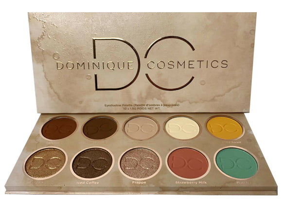 Dominique Cosmetics Latte 2 Eyeshadow Palette 10 Colors