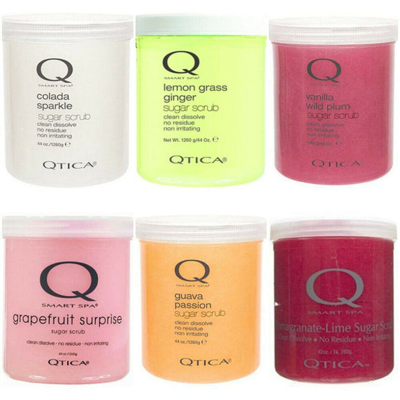 Qtica Smart Spa Exfoliating Sugar Scrub 44oz Salon Pedicure Manicure *PICK SCENT