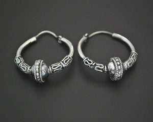 Ethnic Bali Hoop Earrings - SMALL/MEDIUM