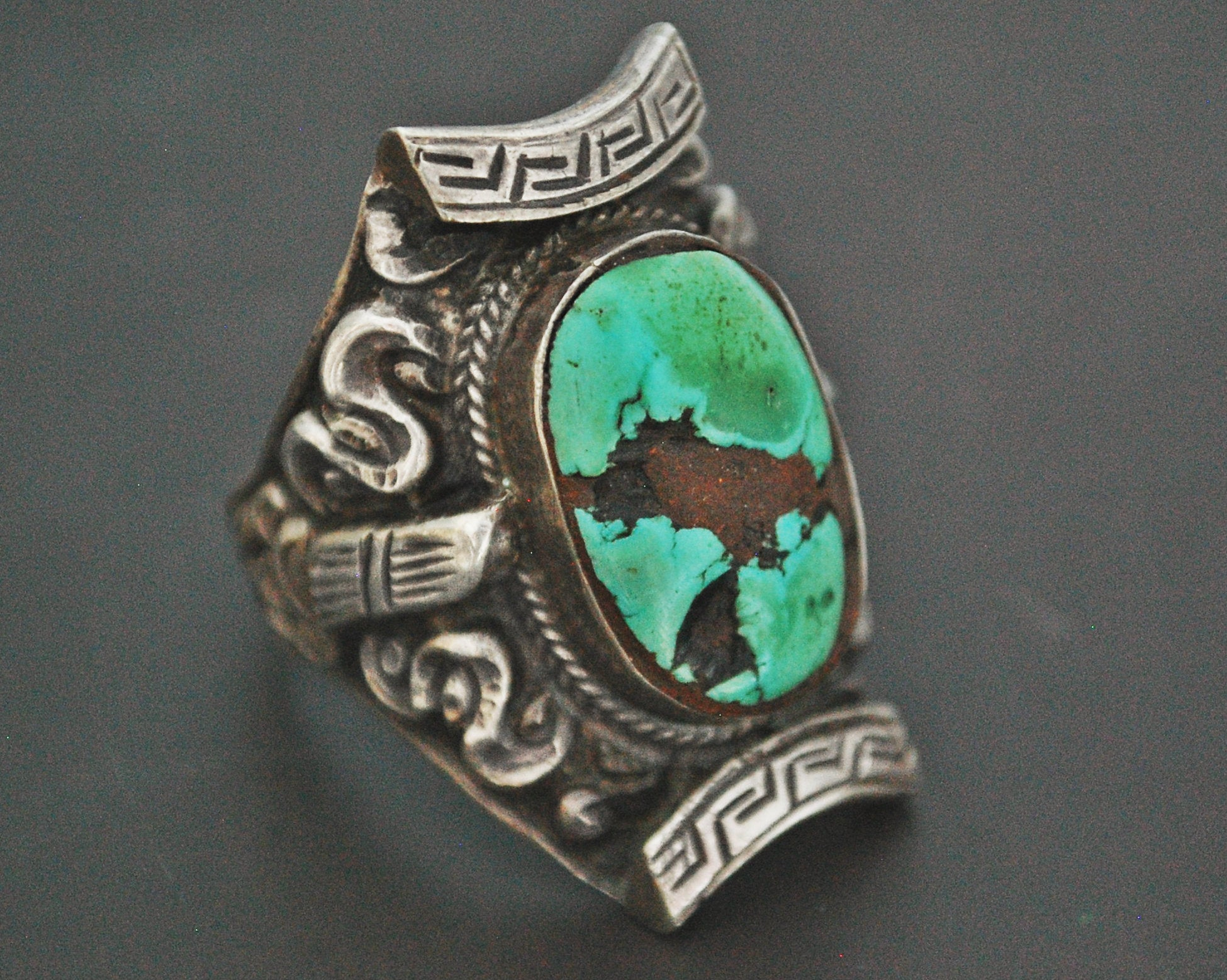 Gorgeous Nepali Tibetan Saddle Ring - Size 12.5