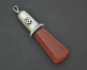 Sunstone Pendant with Sterling Silver Setting