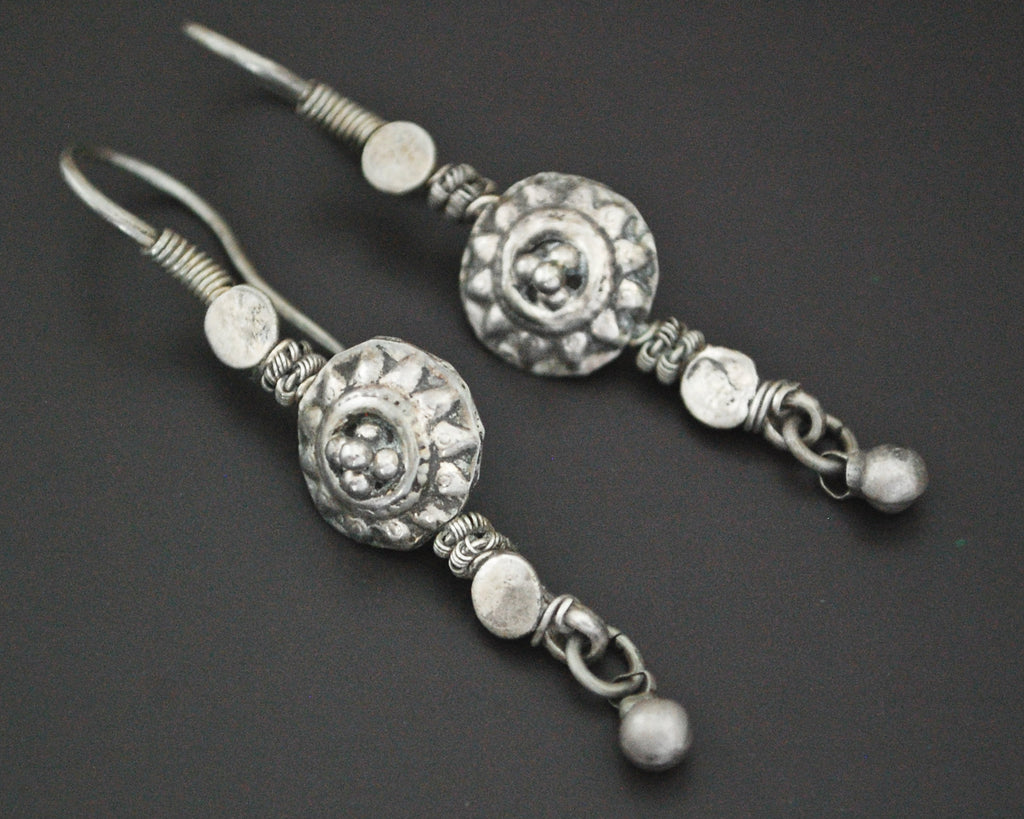 Afghani Earrings with Bell Decoration