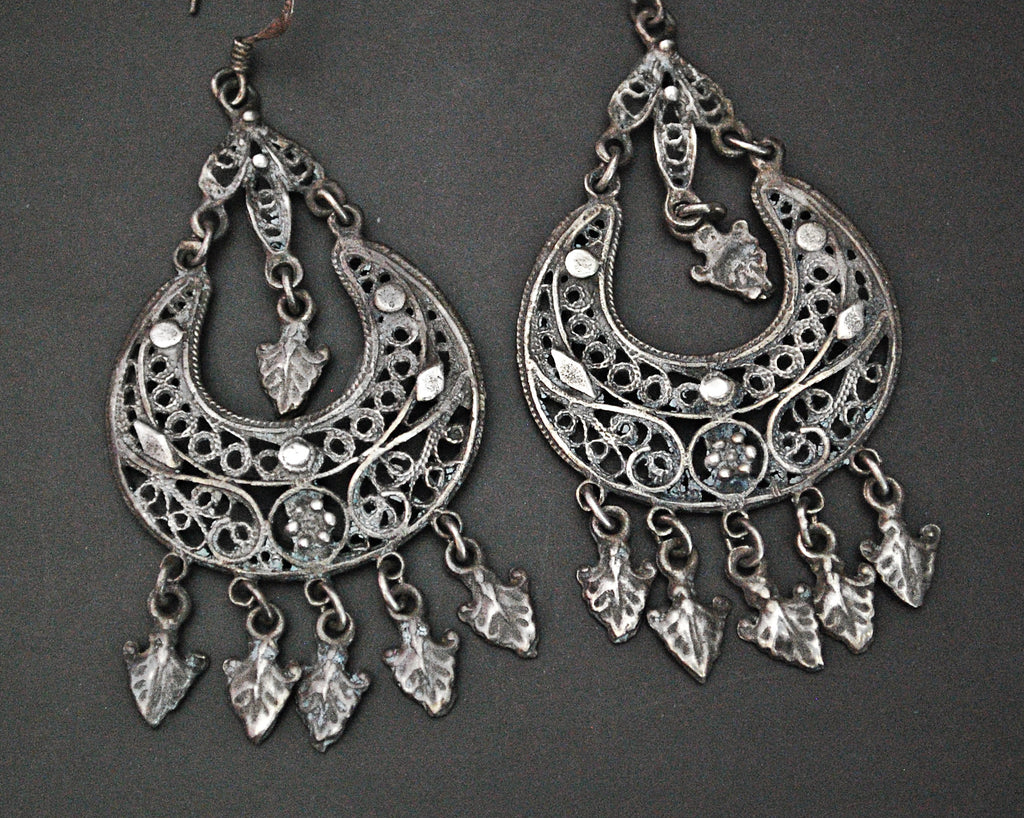 Yemeni Filigree Dangle Earrings