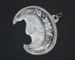 Man in the Moon - Crescent Moon Pendant