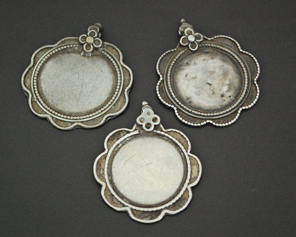 Rajasthani Silver Disc Pendant - Set of Three