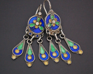Cute Berber Enamel Earrings
