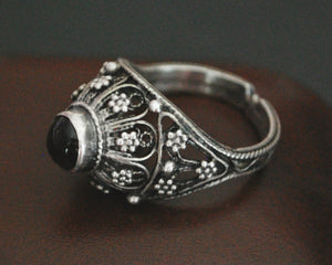 Antique Yemeni Bedouin Ring with Garnet