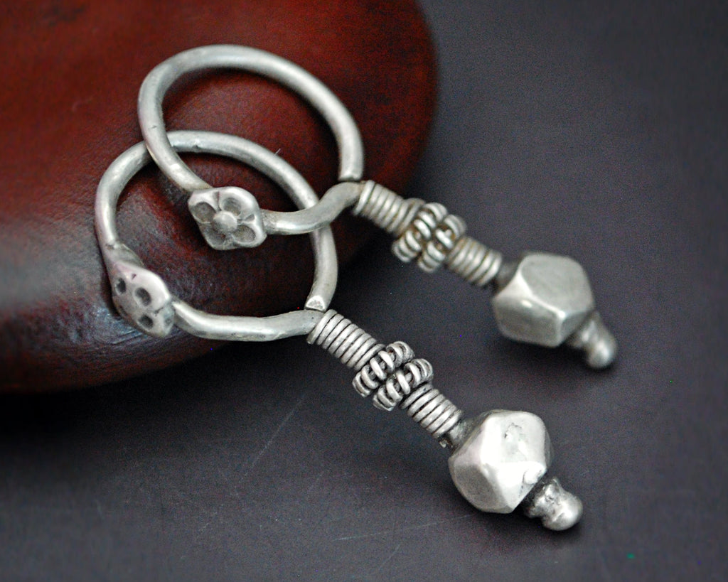 Indian Tribal Earrings from Gujarat