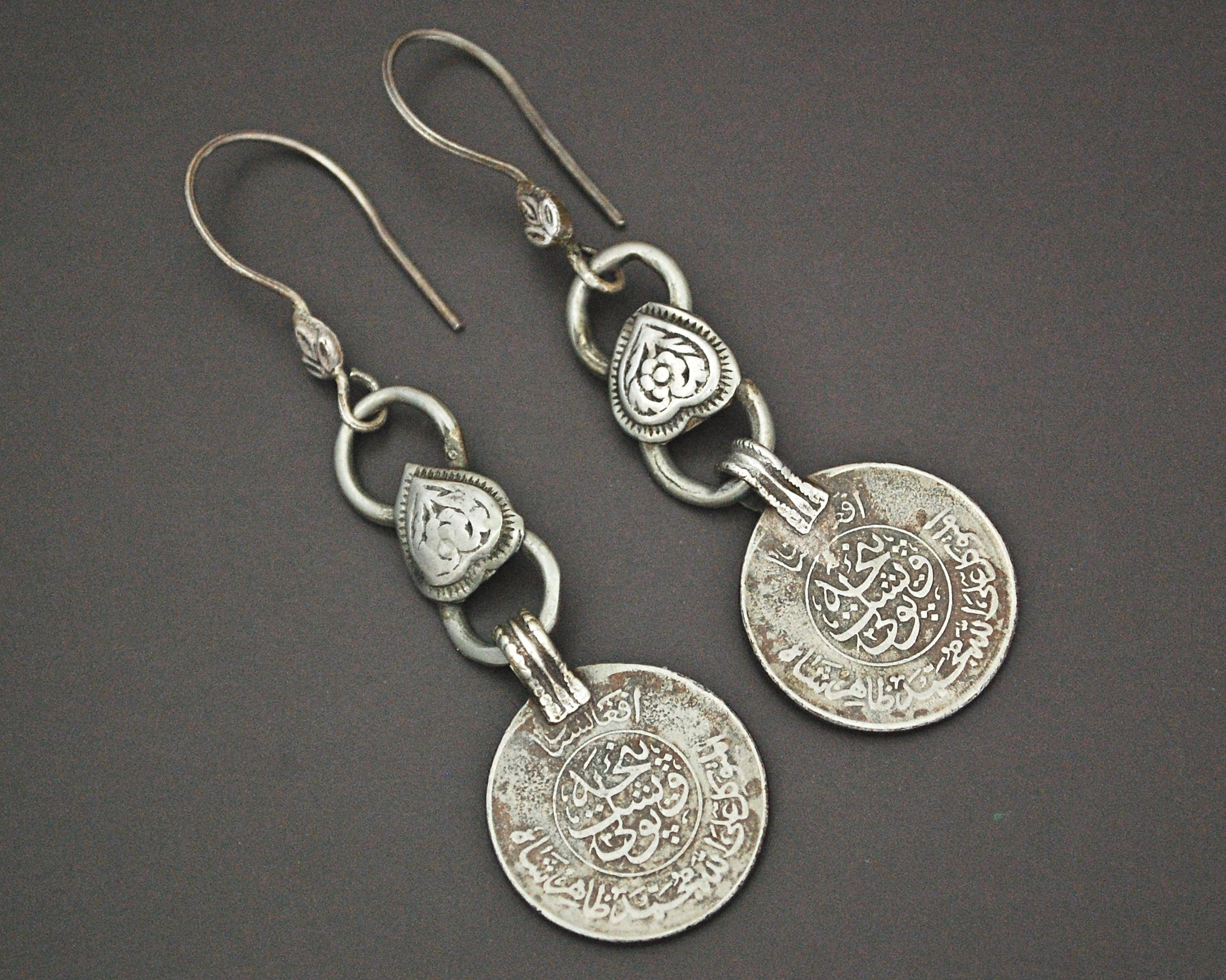 Afghani Coin Dangle Earrings