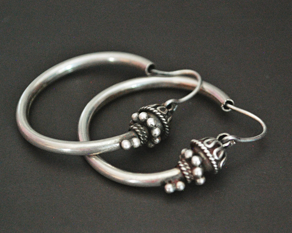 Ethnic Bali Hoop Earrings