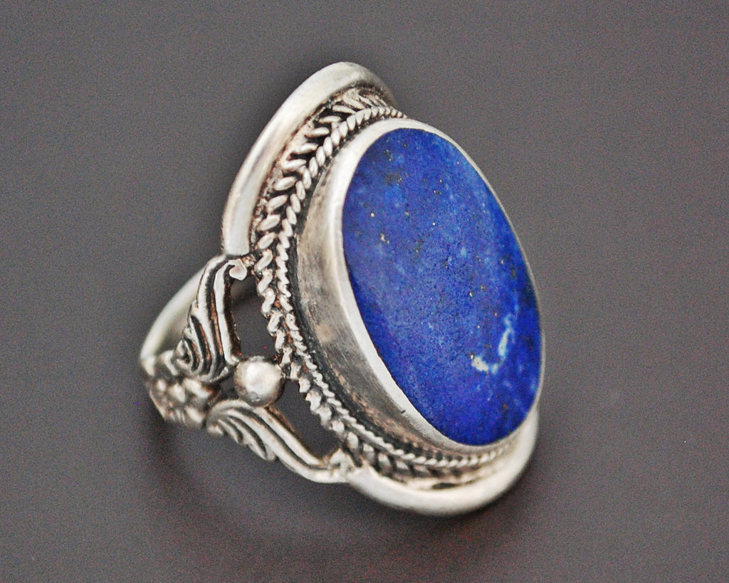 Ethnic Lapis Lazuli Ring from India - Size 7.5