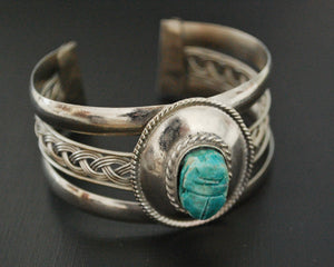 Scarab Cuff Bracelet from Egypt