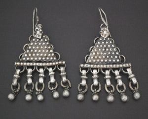 Indian Tribal Earrings with Bell Dangles