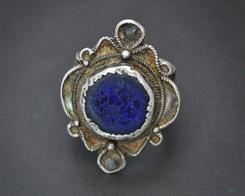 Berber Ring with Blue Stone - Size 8.5