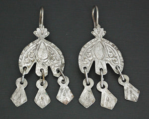 Old Moroccan Berber Earrings with Dangles