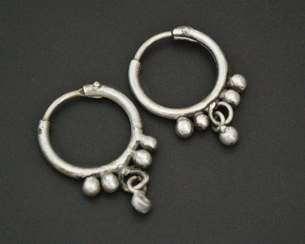 Rajasthani Hoop Earrings with Dangle - XS