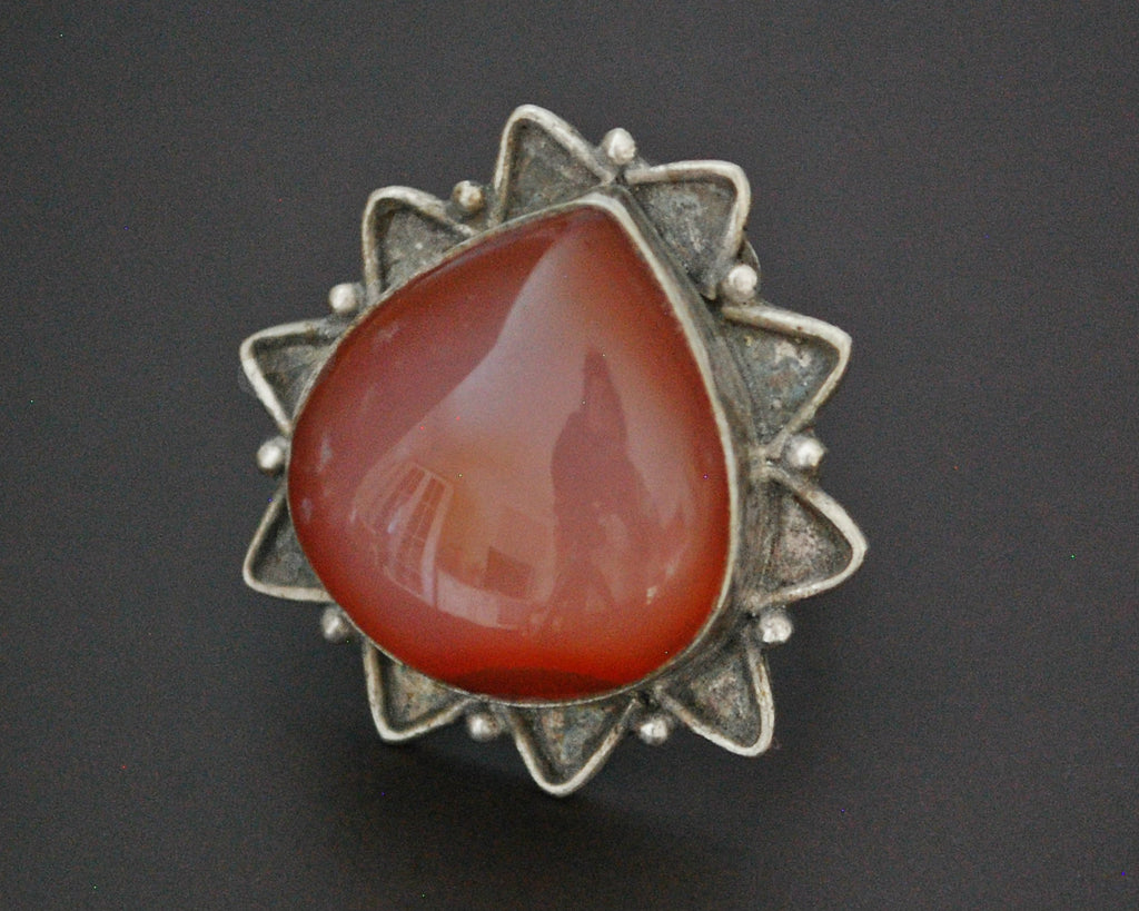 Indian Agate Ring - Size 7.5