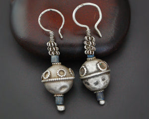 Antique Afghani Earrings with Lapis Lazuli