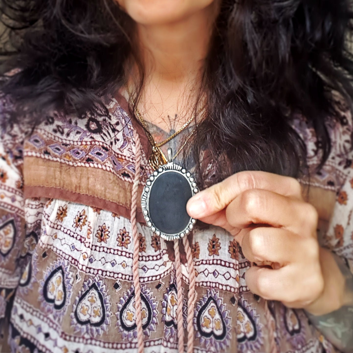 Native American Jet Pendant