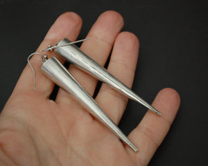 Very Long Ethnic Spike Earrings