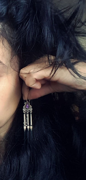 Amethyst Earrings from India