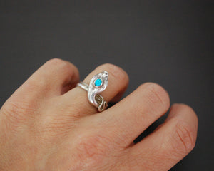 Snake Ring with Turquoise - Size 5.5