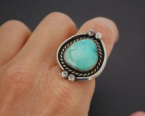 Native American Navajo Turquoise Ring - Size 6.25