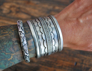 Antique Turkmen Silver Bracelet