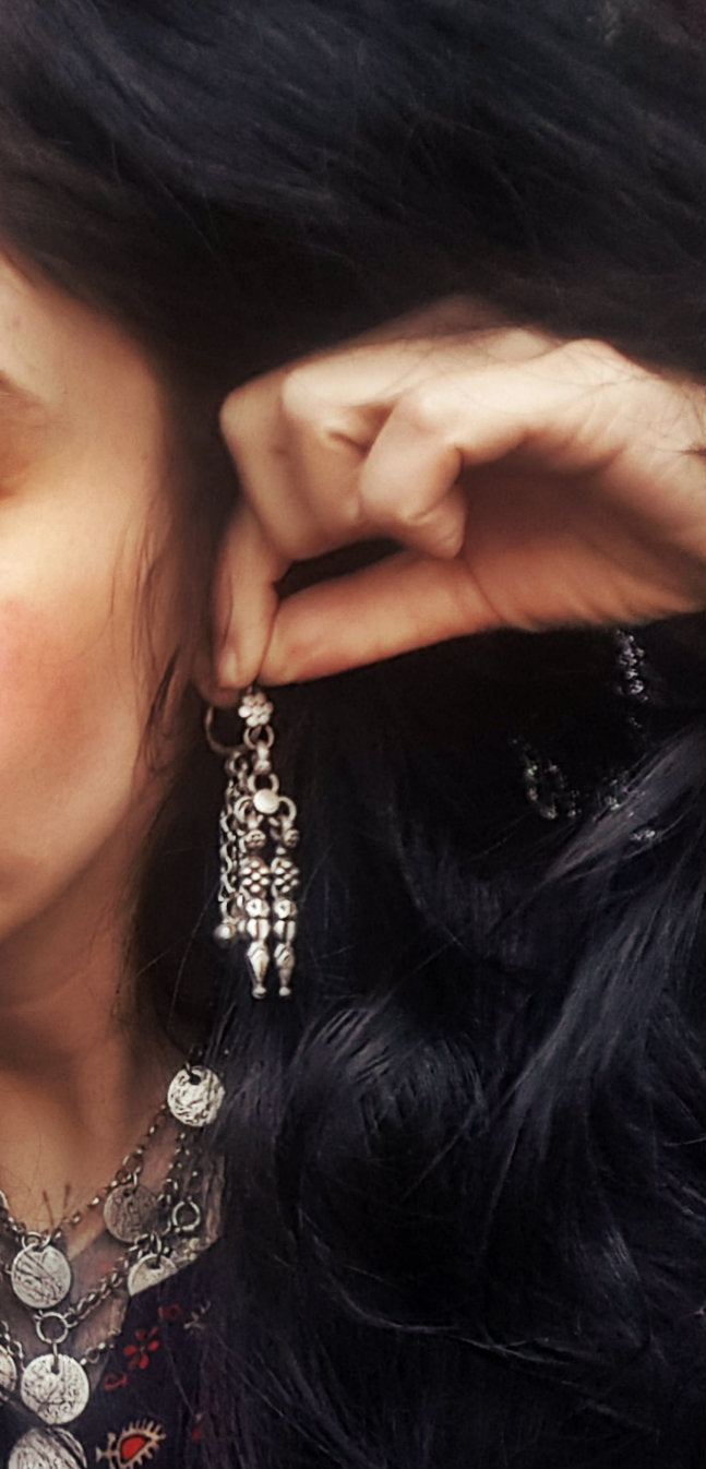 Rajasthani Old Silver Earrings