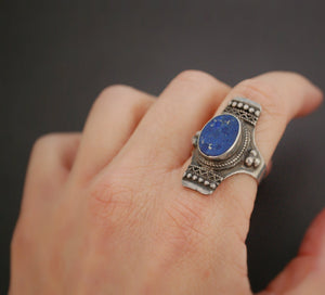 Ethnic Lapis Lazuli Ring from India - Size 8.5